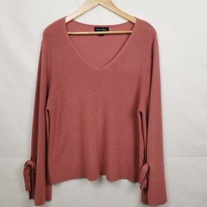 Charlie Paige  V-Neck Knitted Sweater